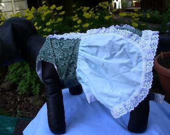 OOAK green doggie dress in two styleds