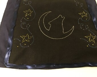 Hand embroidered wolf Altar cloth