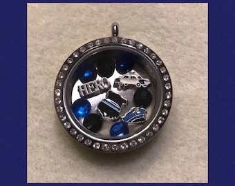 Police Officer floating charm necklace