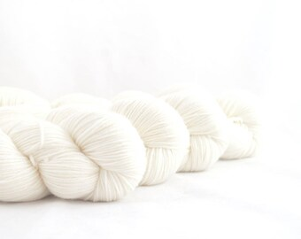 The Invisible Monster Cream Hand Dyed Merino / Nylon Sock Yarn