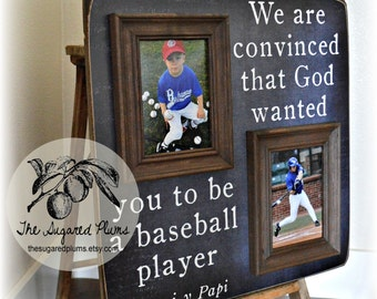 BASEBALL, Baseball Mom, Baseball Decor, Baseball Frame, Baseball Gift, Coach Gift, Sports Decor, Grandson, The Sugared Plums 16x16