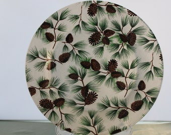 Decorative Pine Cone Christmas Plate
