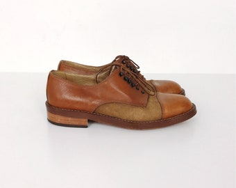 RARE Vintage Joan and David Handmade in Italy Lace Up Oxford Shoes // Women's size 37 6.5 6