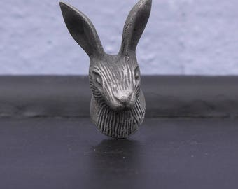 Hare Drawer Knob - New rabbit hare animal furniture knob handle