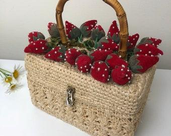 "60's Strawberry Fields ""It's In The Bag"" Handbag"