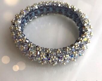 Beading tutorial Lady Di Swarovski crystal bracelet