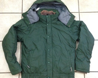 Vintage The North Face Brown Lable US Forest Servie Hooded Parka Jacket - Size Large - Made in USA