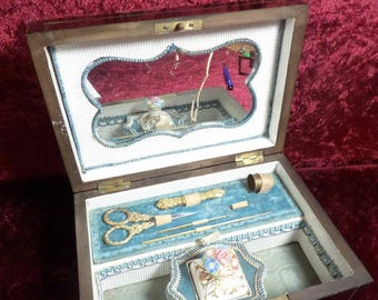 French Scent Sewing  Casket Box Necessaire
