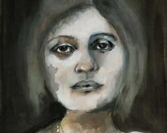 Haunted. Fine Art Print, Figure Painting, Original Art, thepaintedgrove