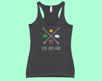 Live. Love. Hike. X - Fit Or Flowy Hiking Tank