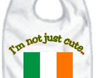 Irish baby bib, irish bibs, irish baby sayings, irish baby shower gift, irish baby clothes, irish baby clothing