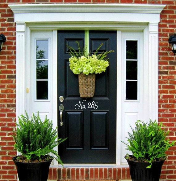 Vinyl house door numbers door number decals house number address number door decor curb appeal custom house numbers outdoor house number