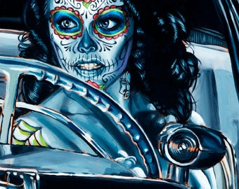 BigToe's Muerte Se Paseo Limited Edition Archival Art Print