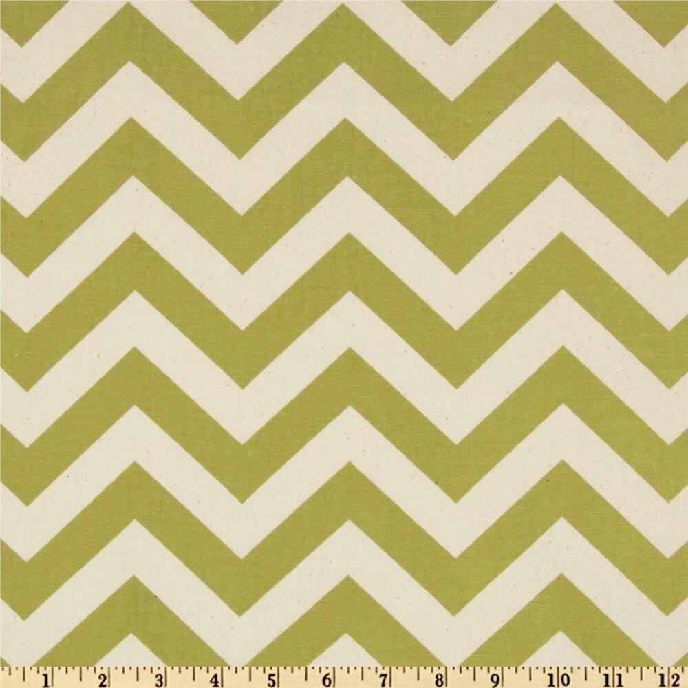 Yellow Green Chevron fabric Premier Prints Zigzag Summerland