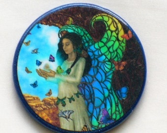 BUTTERFLY FAIRY MAIDEN Talisman Amulet Witch Wicca