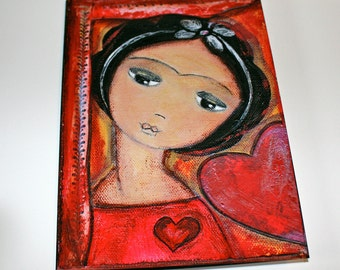 Always in Love Frida - Greeting Card 5 x 7 inches - Folk Art By FLOR LARIOS