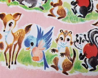 Mixed Media Supplies, Vintage Ephemera, Vintage Paper, Forest Friends, Animal Characters