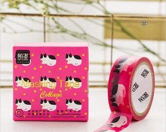Cat Washi Tape, Craft Tape, Decorative Tape, Scrapbook Tape (1W-6)
