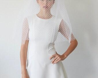 Bridal veil wedding elbow length  - Paulette