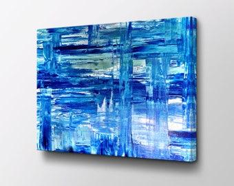 Abstract Art - Canvas Wall Decor - Modern Wall Art - Original design by Epik - Mid Century Modern - Blue Dreams