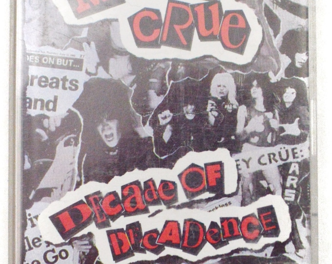Vintage 90s Motley Crue Decade of Decadence '81-'91 Heavy Metal Compilation Album Cassette Tape