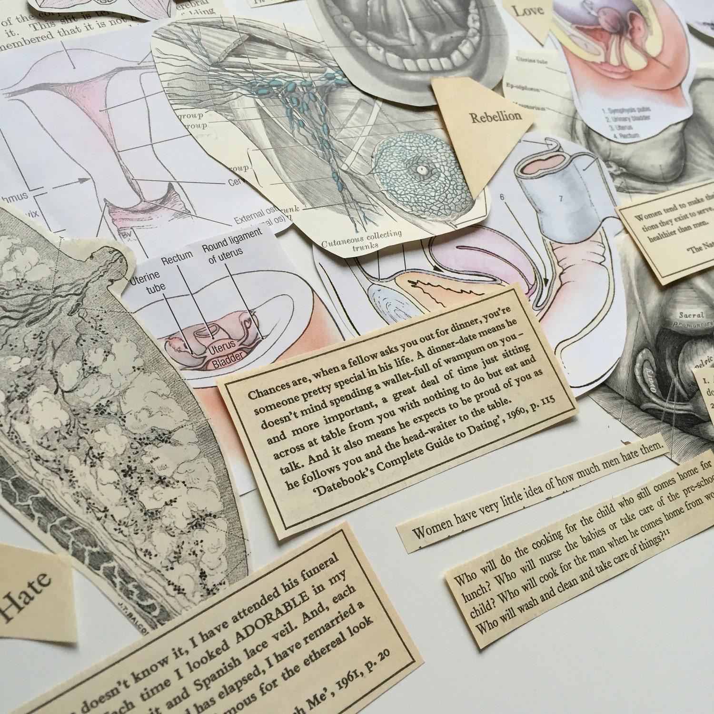 Feminist Ephemera Bundle. Feminism, vintage advice, female anatomy ...