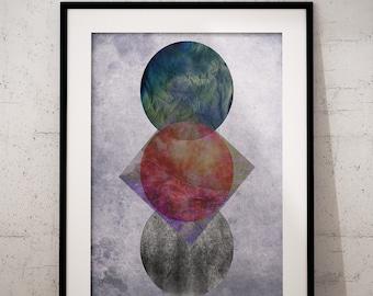 Scandinavian Print, Abstract Print, Abstract Art, Geometric Print, Geometric Art, Printable Scandinavian Art, Instant Download Digital Print