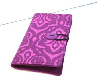 12 -38 Slots  Loyalty Card Holder  Business Card Organizer  Gift Card Wallet  Ikat Purple Damask