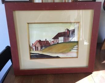 Gouri Paul Ivanov-Rinov WPA Era Original Painting - Bangor, Maine - 1934