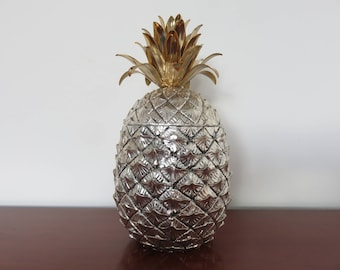 """PINEAPPLE"" MAURO MANETTI Firenze Italy ice bucket pattern mid century 1960's 1970 '60s 70' Risi pineapple icebucket s"