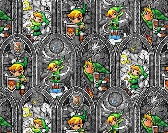 Legend of Zelda By the Yard Zelda Fabric Wind Waker Nintendo Fabric Comic Strip Link Fabric Gaming Fabric Cotton Fabric Apparel Fabric