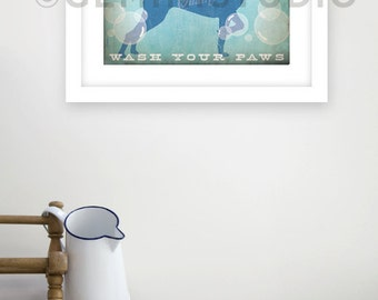 German Shorthaired Pointer dog soap company bathroom washroom unframed artwork giclee archival signed artists print by Stephen Fowler