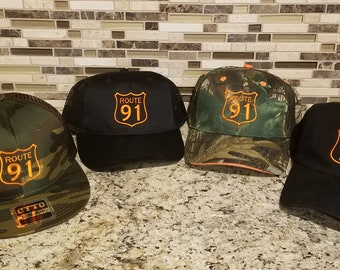 Route 91 Embroidered Hats.
