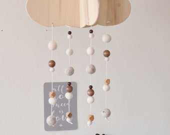 Unique piece! Baby mobile, mobile, mobile wooden wood