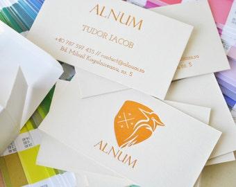 200 Gold foil / silver foil / copper foil business cards. Hot foil business cards, gold foil calling card, silver foil card, copper hot foil