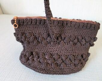 1940s Black Crochet Purse