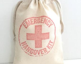 10 Emergency Hangover Kit Bags - Bachelorette Favor Bags - Survival Kit - Wedding Favor Bags - Bachelorette Hangover Kits - Emergency Kit -