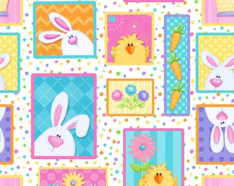 Hippity Hop - Main 6679-21 by Henry Glass Cotton Fabric Yardage