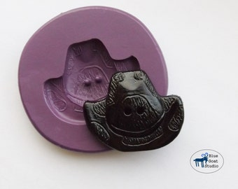 Cowboy Hat Button Mold/Mould - Western Mold - Silicone Molds - Polymer Clay Resin Fondant