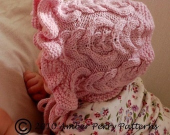 PDF Knitting Pattern - Elizabeth Bonnet