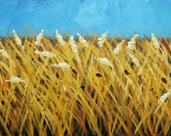 12x24 Print of oil painting Wheat  25by Roz