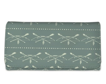 Bow and Arrow Clutch Purse with strap, Clutch Wristlet, Woman's Wallet, Wristlet Wallet, Wallet Cell Phone, Wallet Purse