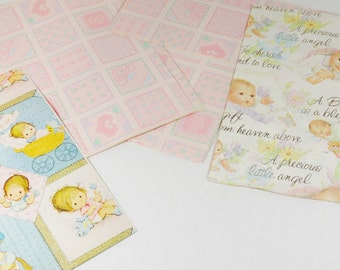 Variety Pack - Vintage  Baby Gift Wrap