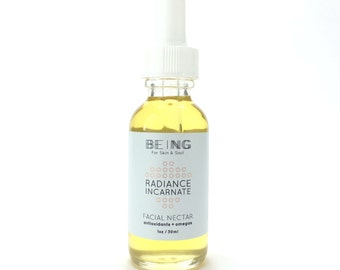 Organic Facial Oil 100% natural and vegan with antioxidants and omegas