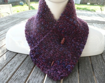 Versatile Purple/Multicolored Neck Warmer