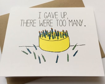 Funny Happy Birthday Card - Snarky Birthday Card - Friend Birthday - Birthday for Friend
