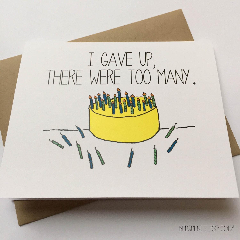 Funny Happy Birthday Card Snarky Birthday Card Friend
