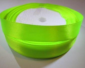5 m satin ribbon yellow neon 16mm