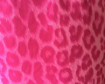 Vintage Betsey Johnson Pink Leopard Print Skirt