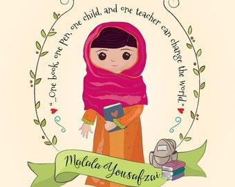 MALALA YOUSAFZAI - Empowering Prints